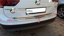 Piastra Protezione Soglia Paraurto Posteriore in Acciaio Cromo  VW TIGUAN 2016>