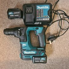 Makita Hr166d sds Hammer Drill With Charger And 2 X 4.0ah Batteries