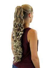 POSTICHE / TRESSE bouclée 70 cm épingle à cheveux-papillon blonde Mélange