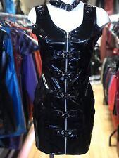 Damen Unterhemd Plunge Riemchen V Ausschnitt Krepp Bodycon Minikleid Größe 8-14