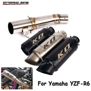 For Yamaha YZF-R6 2006-2020 Motorcycle Exhaust Muffler Pipe Link Middle Tube