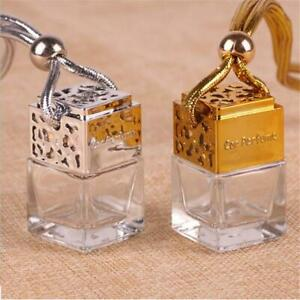 Car Hanging Perfume Air Freshener For Essential Oils Empty Glass Bottle AA