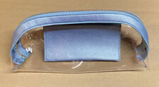 CLEAR ZIPPERED COSMETIC VINYL PLASTIC MAKEUP BAG POUCH w/ Card Case About 10x3x2