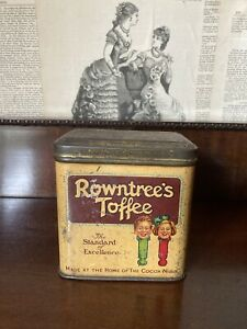 Vintage Rowntree's Toffee Tin 1930s