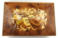 """Stunning Sorrento Wood Inlay Music Jewelry Box """"Torna A Surriento"""" Melody"""