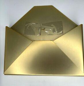 Mailbox Gold Metal Pocket Wall Mounted Decor Envelope