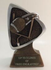 Football Resin Trophy! Free Engraving! Ships In 1 Business Day!