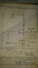 NOS 9335 Sunroc Steel Shower/Eye Wash Station W/Galv.Platform or Outdoor shower