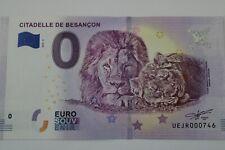 BILLET 0 EURO SOUVENIR  2018 CITADELLE DE BESANCON