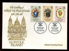 Norfolk Island 1981 Royal Wedding FDC First Day Cover #C13952