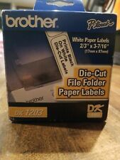 Brother p-touch Dk-1203 File Folder Paper Labels