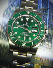 Rolex Submariner 116610 Steel Green Ceramic Mens Watch Box/Papers HULK 116610LV