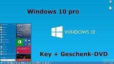 Windows 10 Professional 32/64 Bit OEM Key Produktschlüssel+gratis DVD,Win10pro