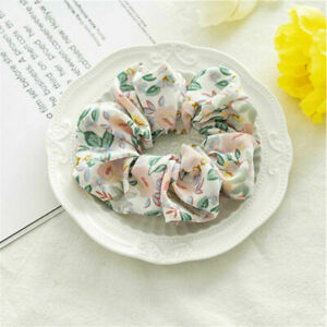 Elastic Hair Bands Floral Scrunchies Rubber For Women Girls Holiday Headwear