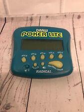 Vintage DrawPoker LITE Electronic Handheld Game ROYAL FLUSH 3000 Lighted TESTED!