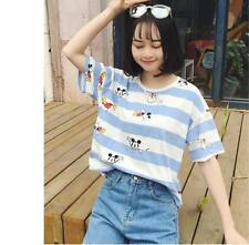 Summer Women Cute Mickey Mouse Printing Blouse Casual Loose Short T-Shirt Tops