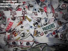 GROSGRAIN PRINTED SPORTS TEAM MIXED RIBBON LOT FOR HAIR BOWS NFL COLLEGE NHL