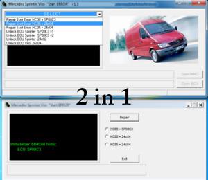 Mercedes Sprinter Vito Start Error repair tool - professional sync tool