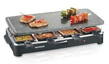 SEVERIN Raclette Partygrill with Natural Stone 1400 W Incl 8 Mini-Skil, German