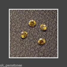 Round Brilliant Cut Yellow Loose Diamond, 1.6mm  Single Stone.