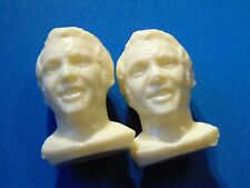2 COLGATE 1971 plastic hockey heads ULLMAN and ULLMANN