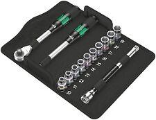 "Wera 05004090001 8006 Sc 1 Zyklop Hybrid Ratchet Set, 1/2"" Drive, Metric"