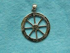 Dryad Design  STERLING SILVER CUT OUT WHEEL OF THE YEAR PENDANT