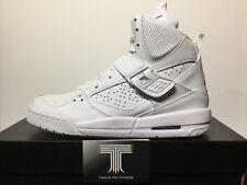 Nike Air Jordan Flight 45 High BG ~ Triple White ~ 524865 100 ~ U.K. Size 5.5