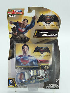 Nascar Authentics Jimmie Johnson #48 Batman Vs Superman Car 1:64 New Free Ship