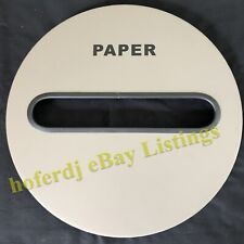 """Round Metal Garbage Can Receptacle Paper Recycling Slot Replacement Lid 15"""""""