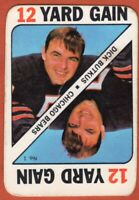 1971 Topps Game Insert #1 Dick Butkus VG-VG Scratch Chicago Bears FREE SHIPPING