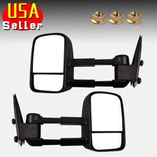 Tow Mirrors Pair for 99-06 Chevy Silverado GMC Sierra 1500/2500/HD/3500 Manual