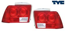 fit 1999-2004 Ford Mustang Euro Rear Tail Lights RED Lens TYC PAIR NIB