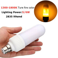 B22/E27 5/6W LED 1800K Flicker Flame Fire Yellow Corn Light Lamp Bulb  K