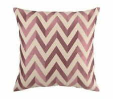 D.L. Rhein Zig Zag Embroidered Linen Throw Pillow Cover 2 Available Ret $145