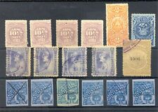 COLOMBIA - PERU - ETC - 17 STAMPS TELEGRAPH / BACK OF BOOK --F/VF