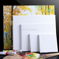 Artists Canvas Primed Oil Acrylic Paints White Blank Square Wooden Board Frames