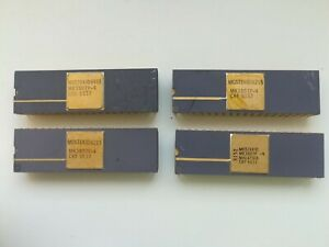 MOSTEK MK3807P-4, rare vintage IC, purple ceramic GOLD, year 1982