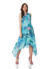 0a183ef9cbf Floral Chiffon Hanky Hem Dress - Sleeveless Midi - Roman Originals Women