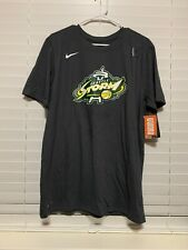 WNBA Seattle Storm #30 Stewart Cotton Tee Size Medium Dark Grey Dri Fit