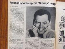 Oct. 4, 1981 Chicago Tribune TV Week  (LOVE, SIDNEY/TONY RANDALL/THE ODD COUPLE)