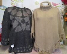 "Lot vêtements occasion femme... Pull, Poncho "" Caroll "" ... T : 44 / 46"