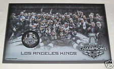 2014 LOS ANGELES KINGS Stanley Cup Champions Team Photo & Puck WOOD PLAQUE 11x17