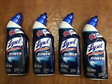 4 Lysol Power Toilet Bowl Cleaner Kills 99.9% of Bacteria