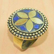 Lapis Lazuli Brass Fashion Rings