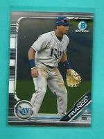 WANDER FRANCO 2019 Bowman Chrome Draft Tampa Bay Rays Rookie Card RC QTY