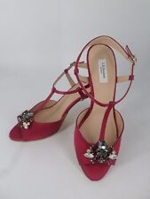 L.K.BENNETT YVETTE RASPBERRY SATIN FORMAL SANDALS RRP £225 UK 4 EU 37 LN30 55