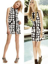 $225 Laundry By Shelli Segal Color Block Print Zipper Shift Dress 6