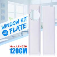 2stk Abluftschlauch Adapter Fensterabdichtung für Mobile Klimagerät Klimaanlagen