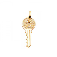 14K Solid Yellow Gold Key Pendant - To My Heart Love Necklace Charm Women Men